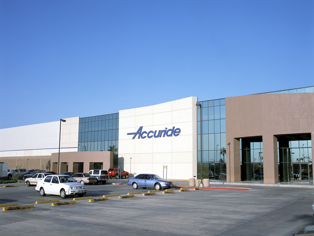 Eye level shot of Accuride industrial facility in Mexicali, Baja California.