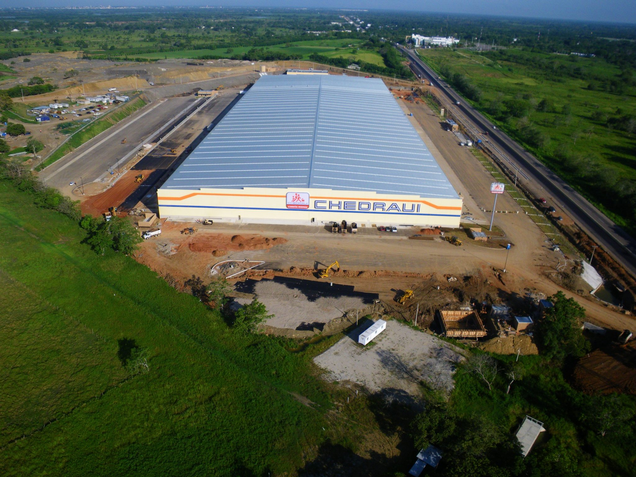 Aerial shot of Chedraui VH Infraestructure in Villahermosa, Tabasco