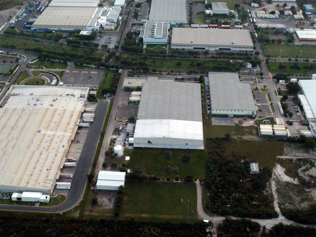 Aerial shot of EMERSON facility in Monterrey, Nuevo Leon