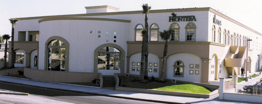 Front view of Frontera Healy Newspaper building in Tijuana, Baja California
