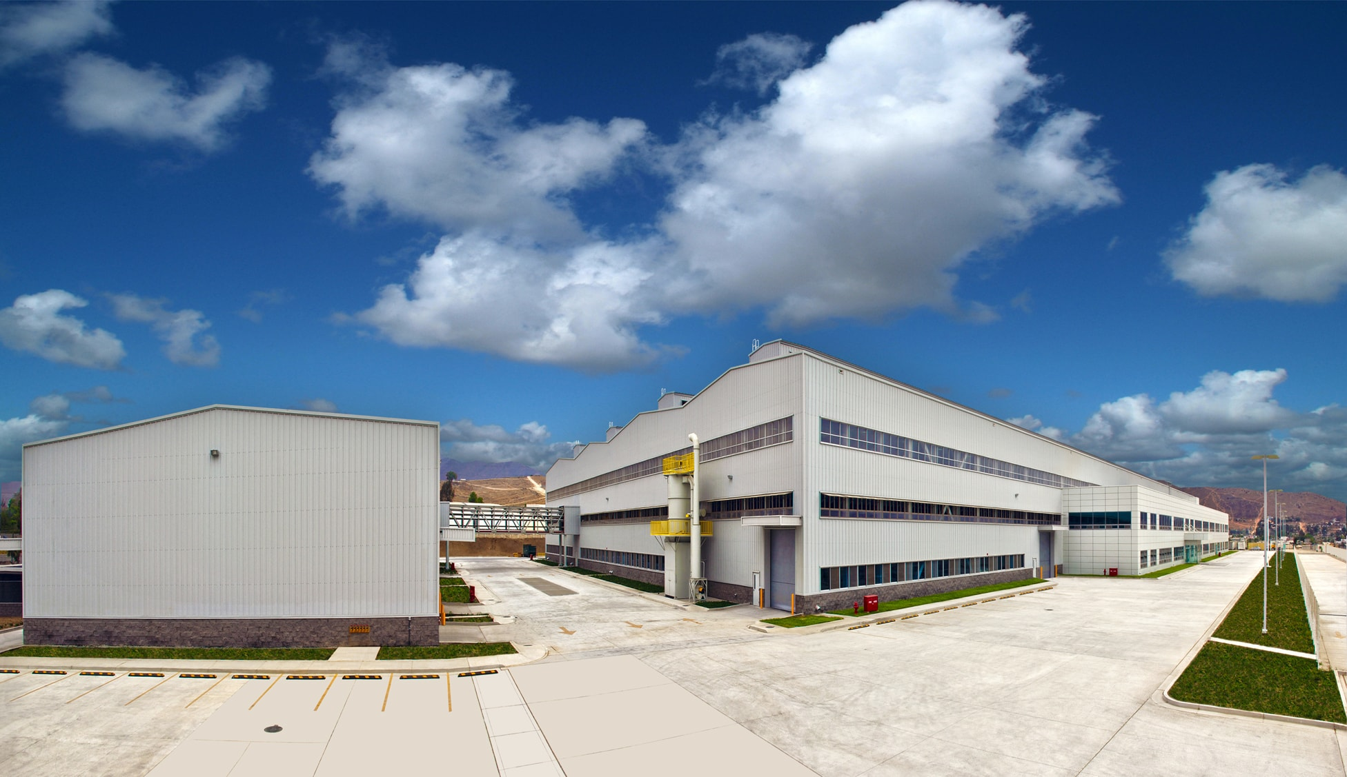 Panoramic shot of Hyundai industrial facility in Tijuana, Baja California.