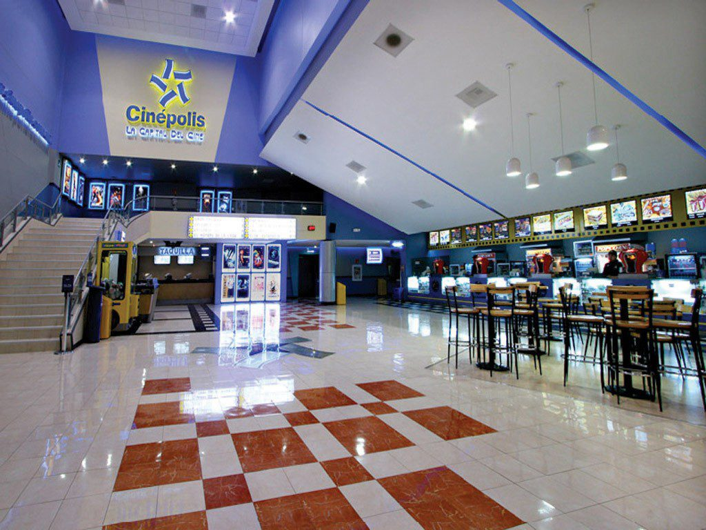 Interior of Cinepolis movie theater in Texcoco