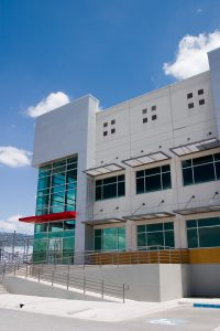 Eye level shot of Intermex 1 industrial facility in Reynosa, Tamaulipas