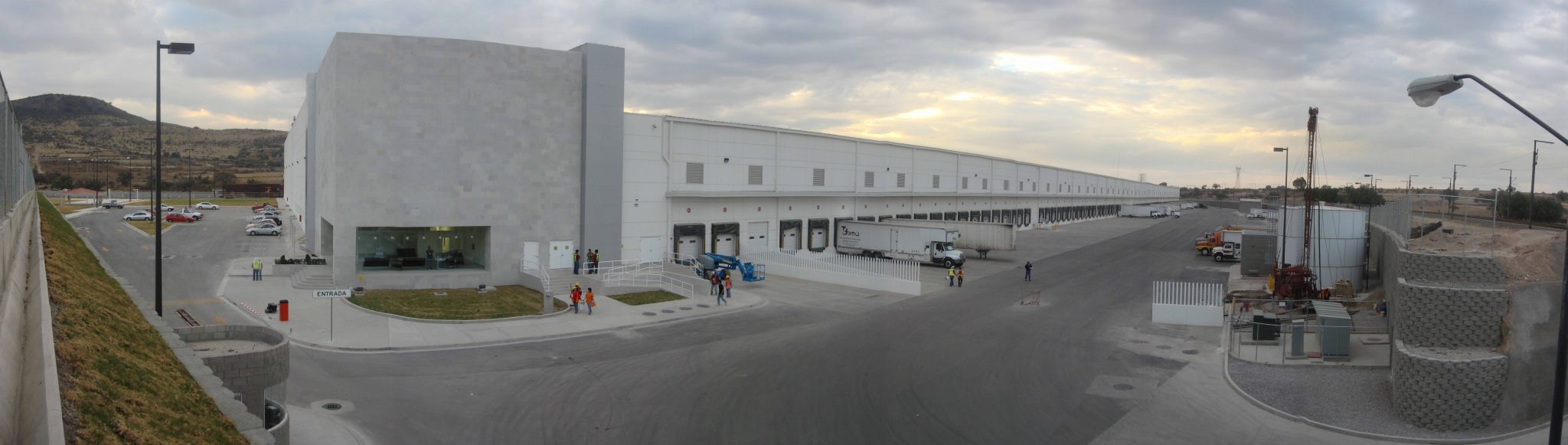 Panoramic shot of MABE distribution center in Huehuetoca, Mexico