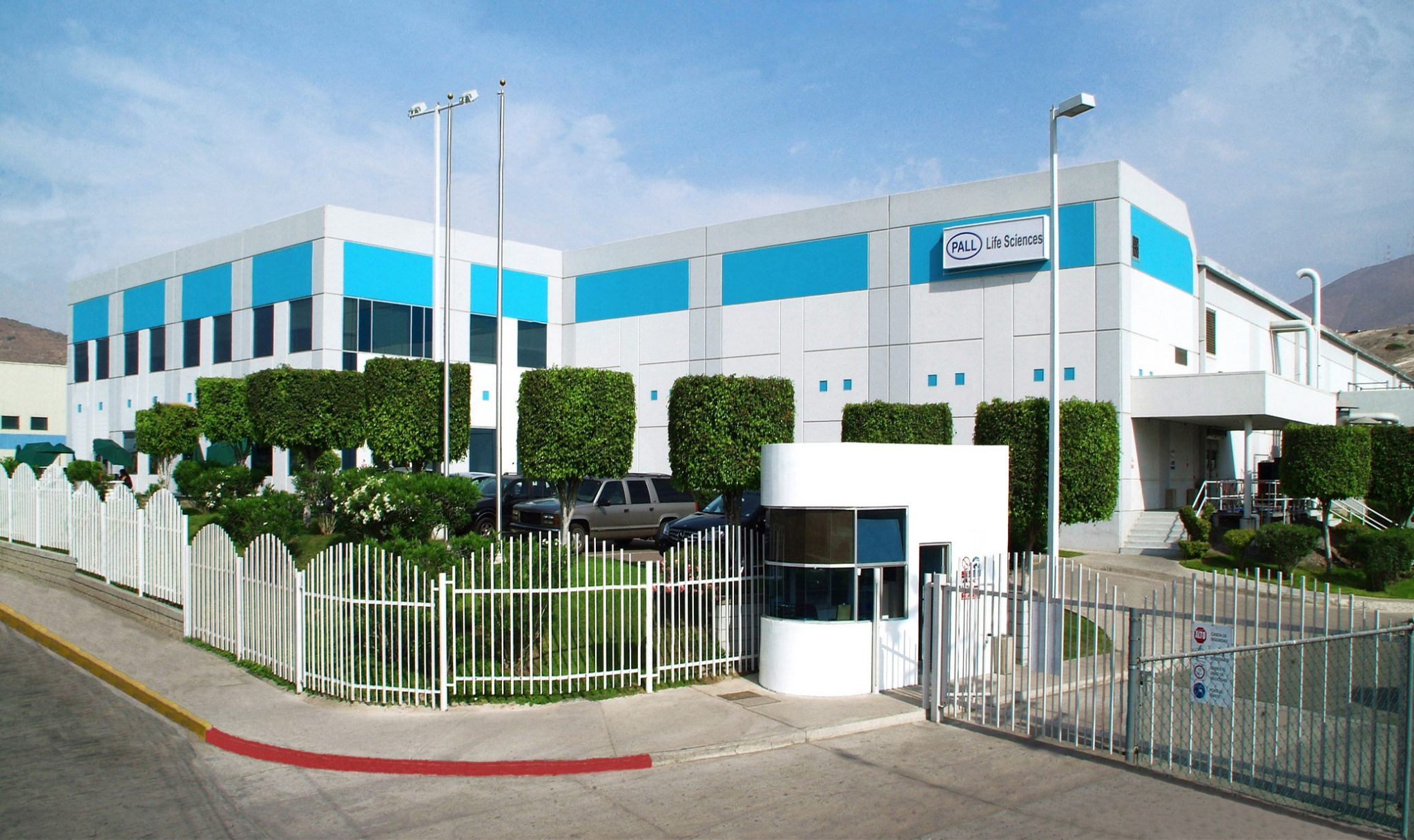Mid shot of Pall Medical facility in Tijuana, Baja California