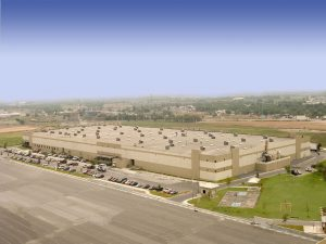 Aerial shot of Prologis Pharr Bridge industrial facility in Reynosa, Tamaulipas.