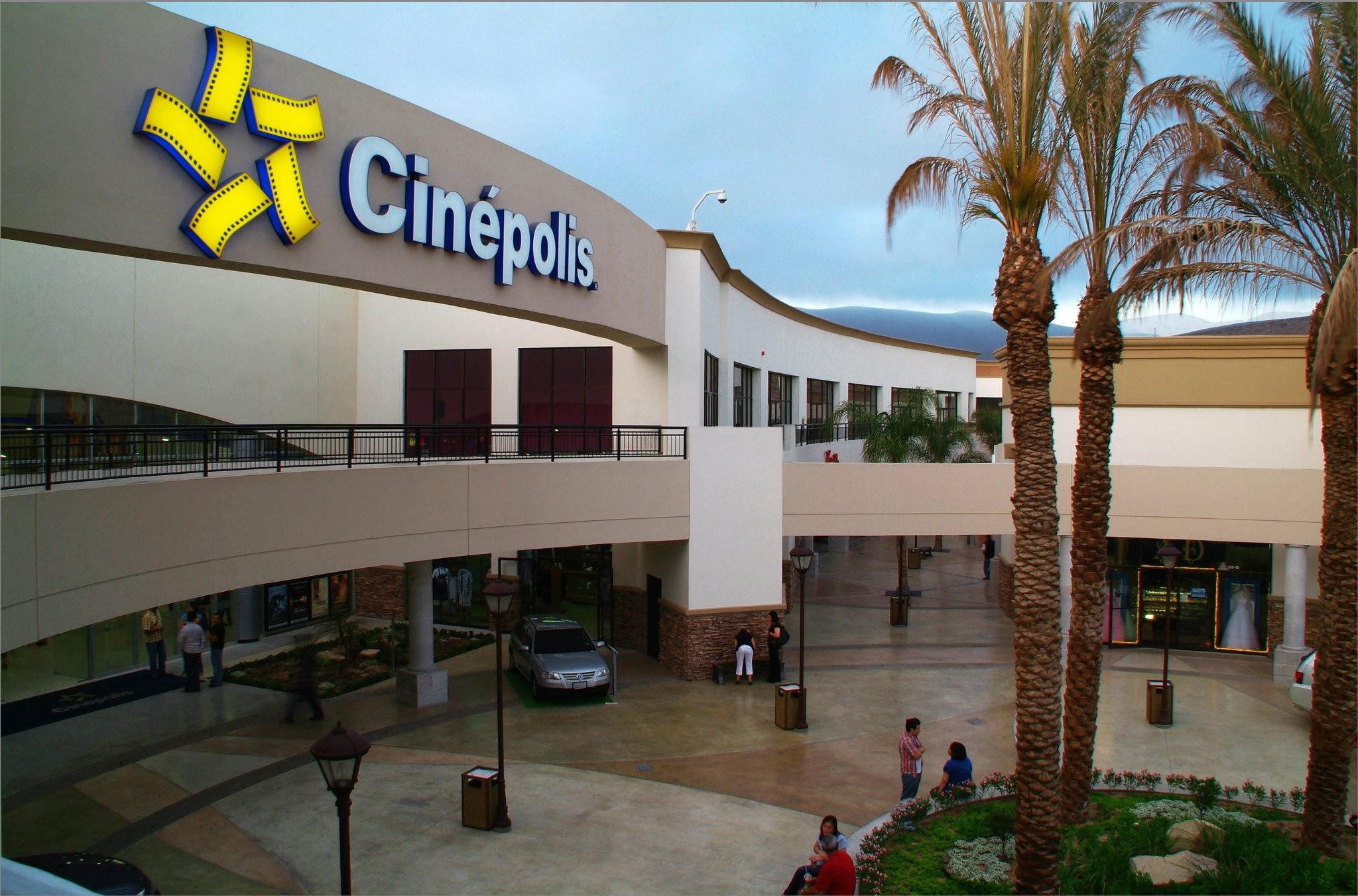 Plaza del Mar shopping Mall with Cinepolis movie theater in Ensenada