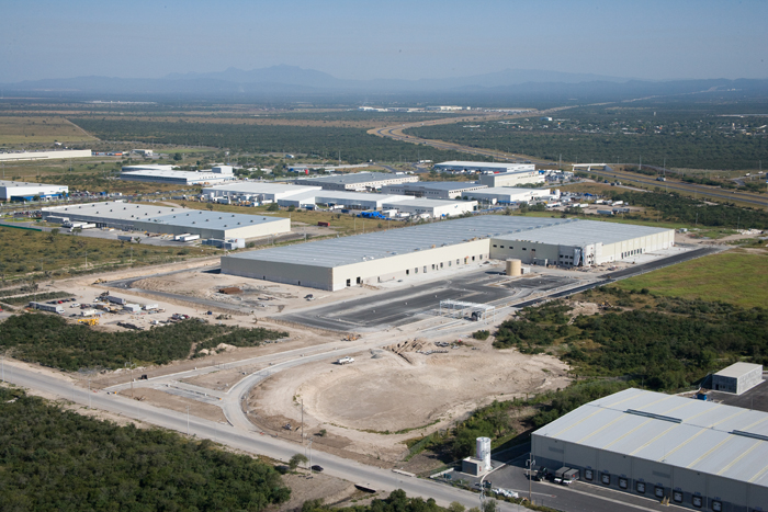 Aerial shot of The Home Depot - Distribution Center in Cienega de Flores, Nuevo Leon