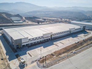 Aerial shot of Falcon industrial facility in Tijuana, Baja California