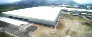 Aerial shot of Dart Containers industrial facility in Atlacomulco, Mexico