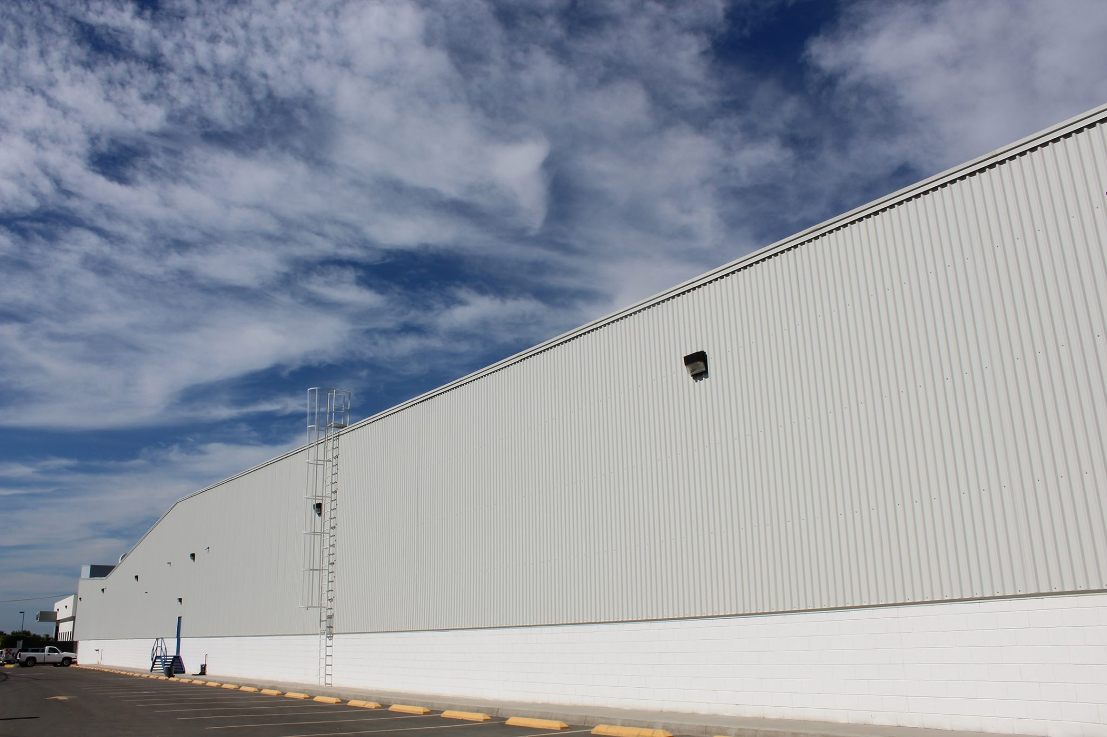 Eye level shot of Estereline industrial building in Tijuana, Baja California