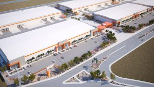 Aerial View of Condesa Industrial Park for lease in Mexicali, Baja California