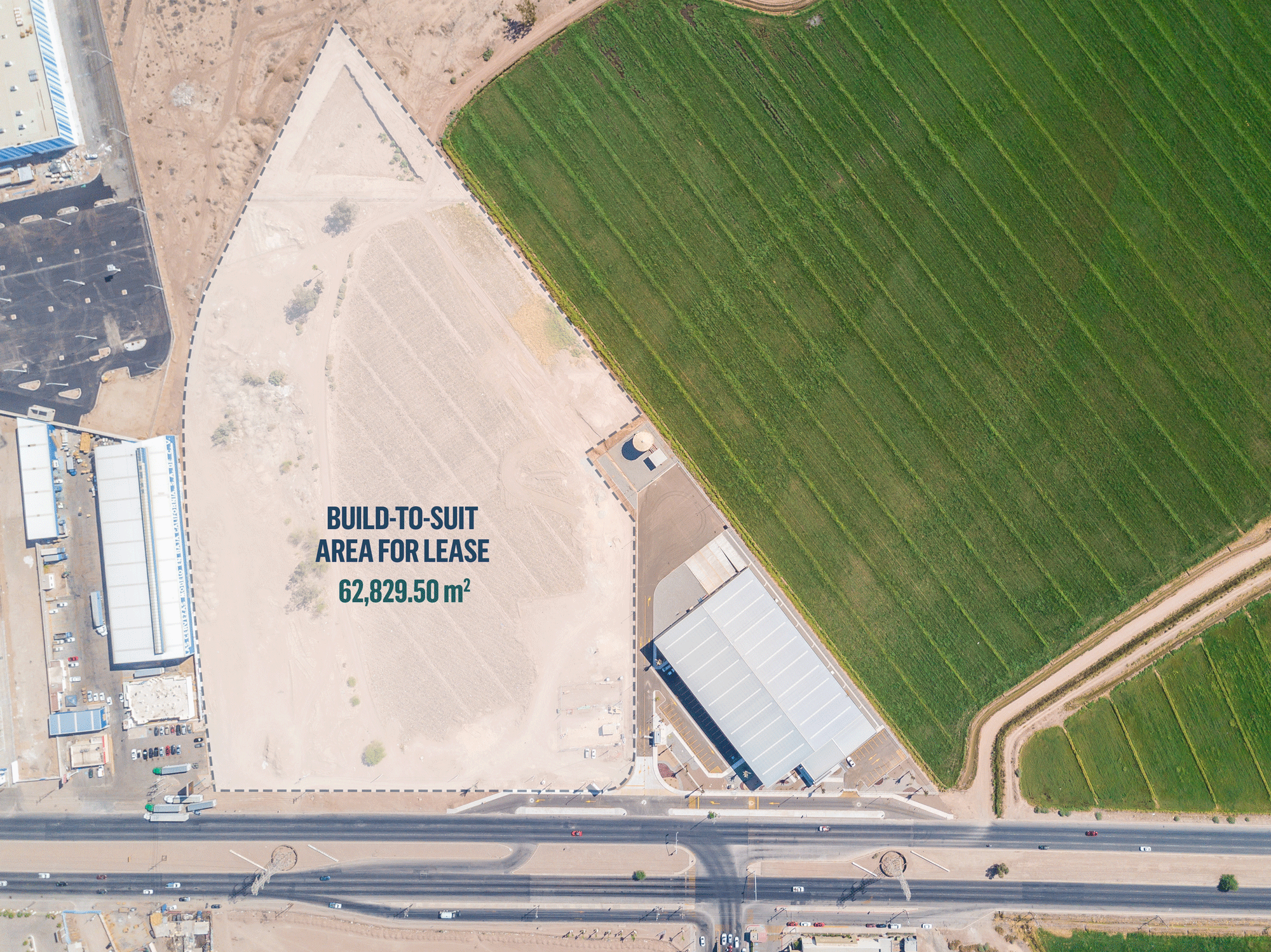 Detailed view of Build-to-suit area for lease in Mexicali, Mexico