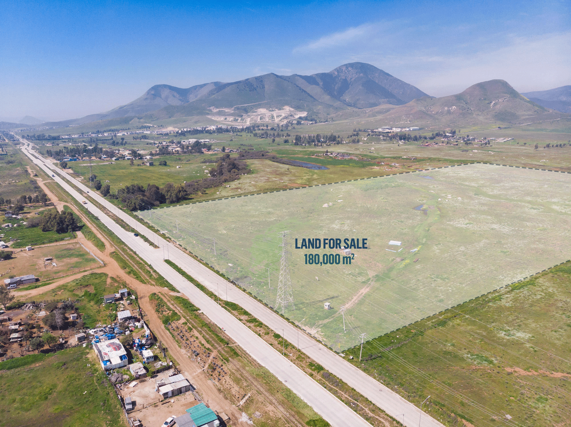 Detailed area of land for sale in Mexico