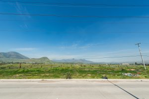 Frontal view of land for sale in Tijuana, Mexico
