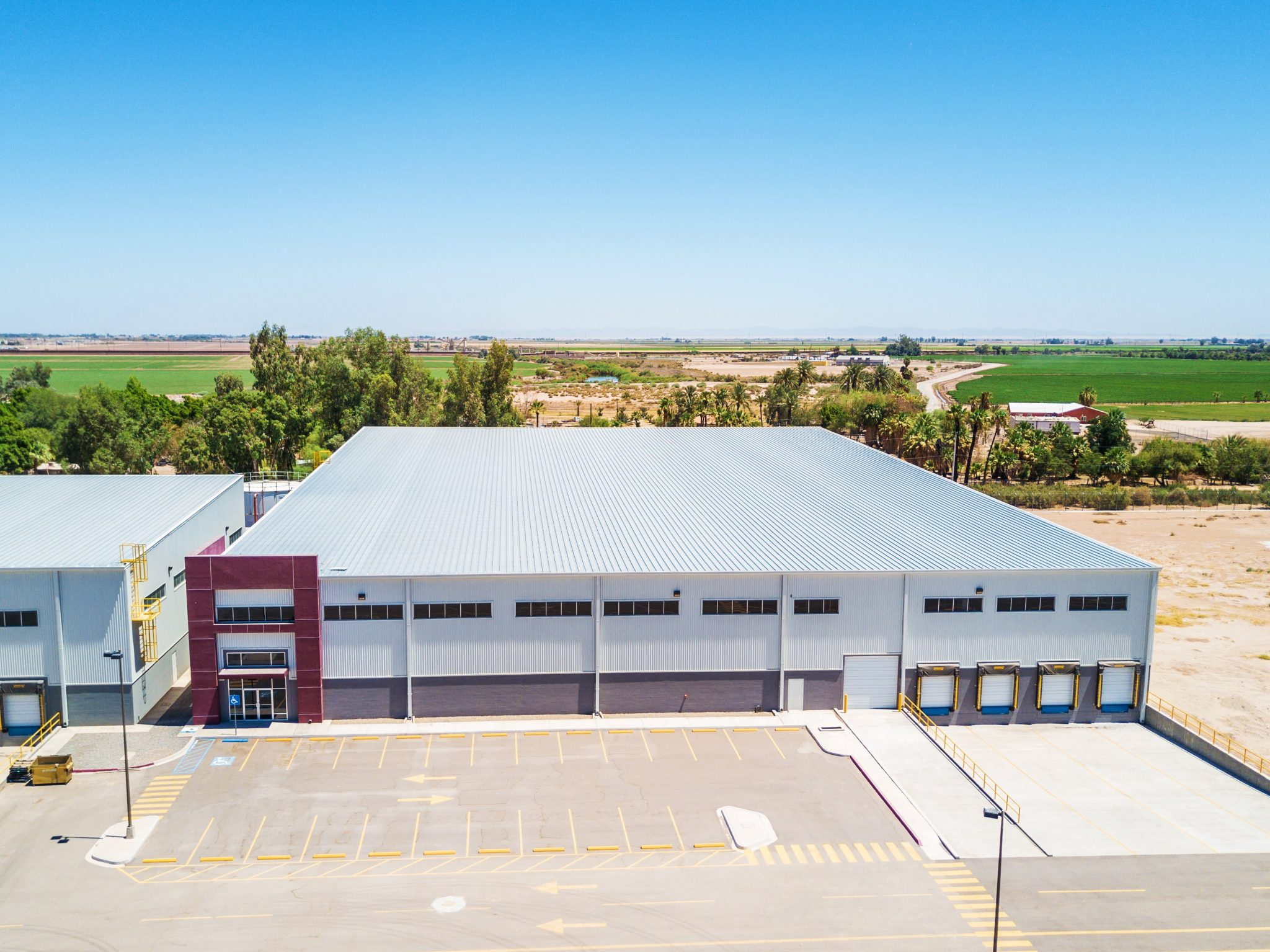 Aerial view of storage, distribution and logistics center for sale in Mexico