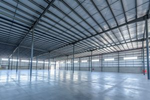Wide shot of storage building in Mexico