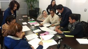 Hermosillo's team having a lean construction budgeting meeting
