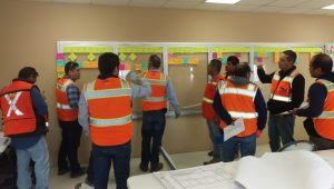 Hermosillo's team working on their last planner system for lean construction puposes