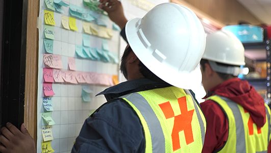 Hermosillo team developing their last planner system for construction project