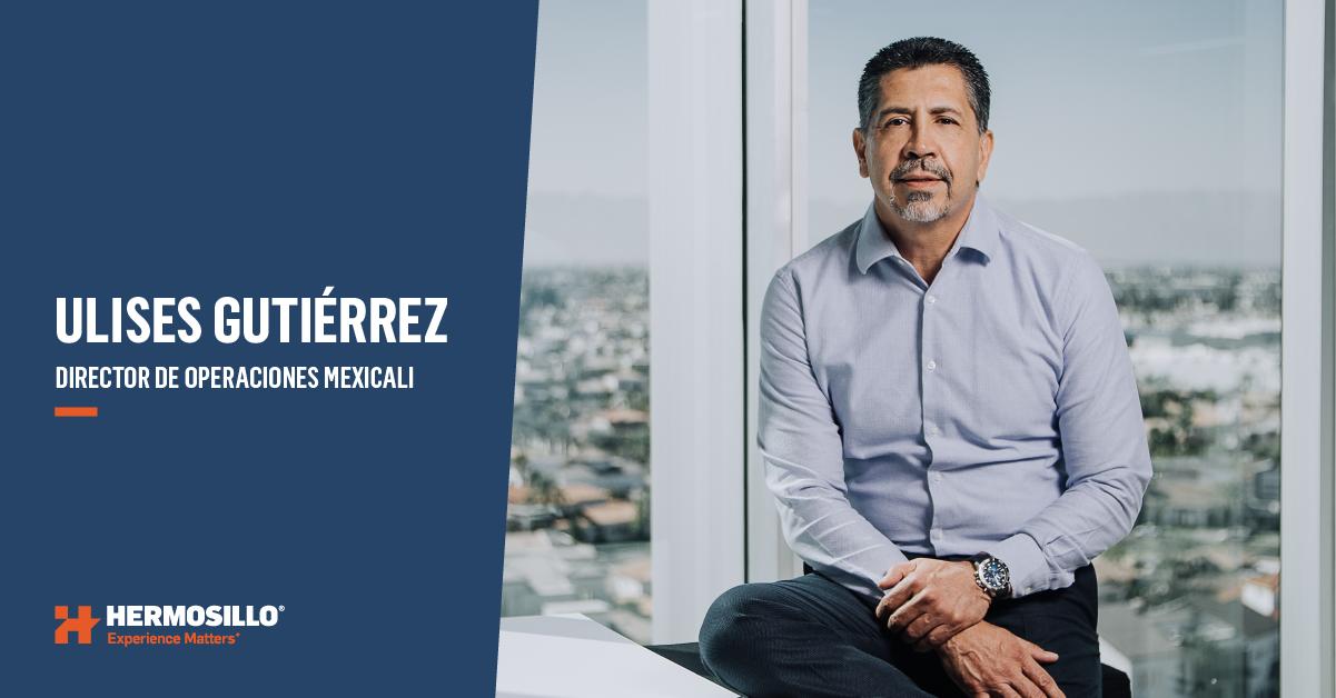 Retrato Ulises Gutierrez Director UEN Mexicali Hermosillo